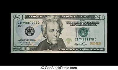미국, 달러, buring