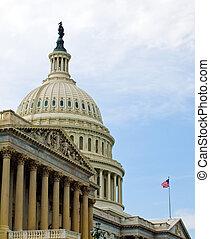 미국 미 국회의사당, 건물, 에서, 워싱톤 피해 통제
