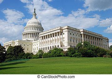 미국 미 국회의사당, 에서, 워싱톤 피해 통제