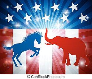 미국 영어, 선거, 개념