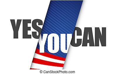 미국, can., 긍정적인, 메시지, 삽화, 당신, 예
