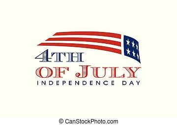 미국, day., 기, 7월 4일, 독립