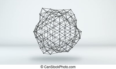 미래다, 네트워크, 모양, loopable, 3차원 애니메이션