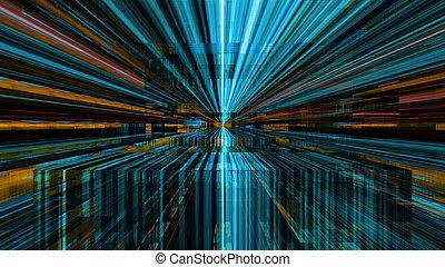 미래다, 디지털, 빛, 기술