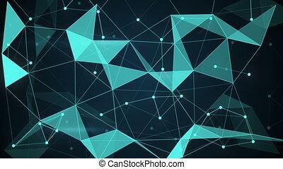 미래다, techno, 모양, 다각형, 배경, 고리