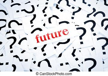 미래, 낱말, 질문