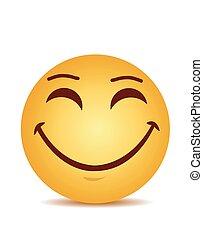 미소, 현대, 웃음, 황색, 행복하다