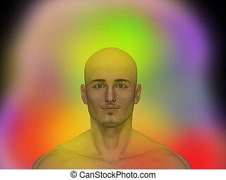 미풍의 상징, 인간, energybody, chakra, 에너지