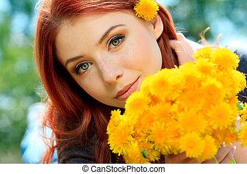 민들레, 꽃
