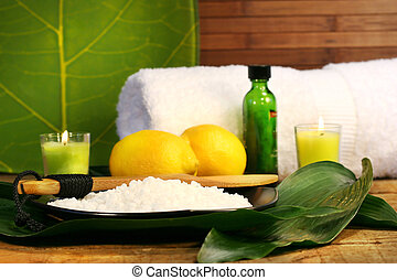 바다 소금, 와..., 레몬