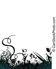 바닥, 잎, 경계