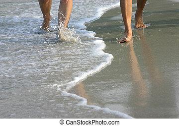 바닷가, 걷다