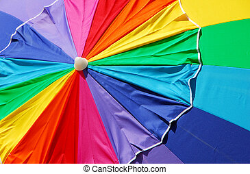 바닷가, 무지개, 우산