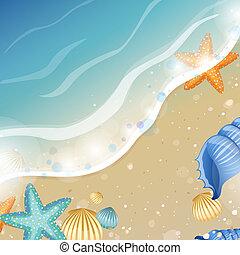 바닷가, 여름, 디자인