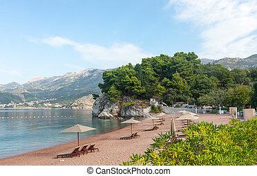 바닷가, montenegro, 왕다운