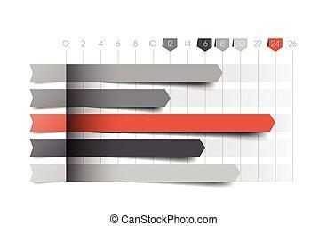 바람 빠진 타이어, 도표, graph., 파랑, color., infographics, 사업, elements.