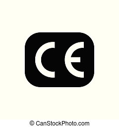 바람 빠진 타이어, 삽화, mark., 증명서, 상징., ce, 표, 벡터, european, 비슷함,...