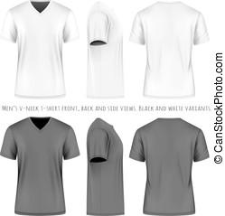 바자형 것, 티셔츠, 사람, 소매, 짧다