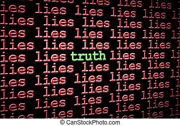발견, 거짓말, 진실, 의 사이에