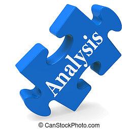 발견, 시험하는, 자료, 분석, 쇼
