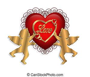 발렌타인, 3차원