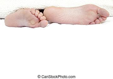 발, 침대