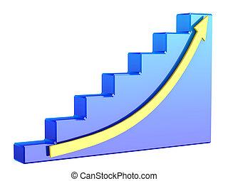 밝은 푸른색, 그래프