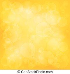 밝은, 황색, 부드러운 물건, bokeh, 배경
