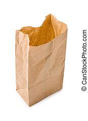 밤색의 종이 가방