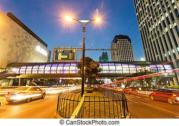 밤, 보이는 상태, 의, 그만큼, 세기, 수단, 에서, 현대, 도시
