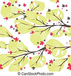 배경, 나무., 삽화, 벡터