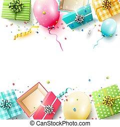 배경, 다채로운, 생일