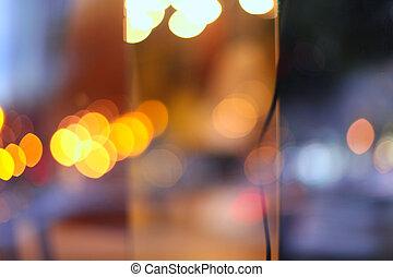 배경., 떼어내다, 부드러운 물건, 초점., 흐림, 도시, 고장신호, 빛