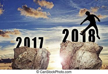배경, 치고는, 그만큼, 새해, 2018