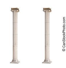 배경, 2, 고립된, 건축상이다, 백색, 란