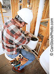 배관공, installs, 화장실