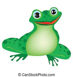 백색, 녹색 개구리, 배경