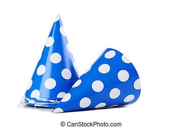 백색, 모자, 고립된, 생일