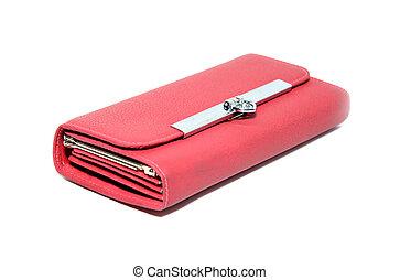 백색, 지갑, 빨강 배경