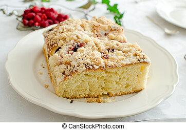백색, 효모, 케이크, 접시