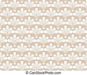 백색, seamless, 레이스, 패턴