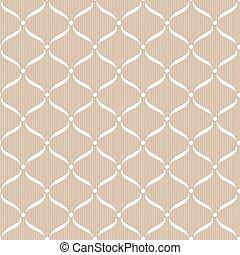 백색, seamless, 레이스, pattern.