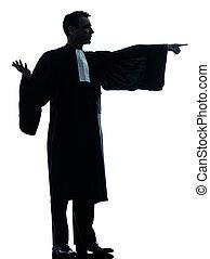 법률가, 남자, 변론하는