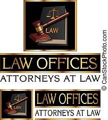 법률 회사, 디자인, 와, 작은 망치