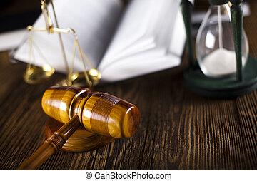 법, 작은 망치, 와, 법률이 지정하는, 법전