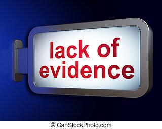 법, concept:, 결핍, 의, 증거, 통하고 있는, 빌보드, 배경