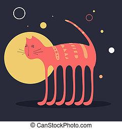 벡터, 고양이, 부족의 예술