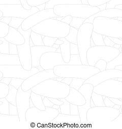 벡터, 기하학이다, 떼어내다, 패턴, -, halftone, seamless, 단일의, 혼자서 젓는 길쭉한 보트, 직물