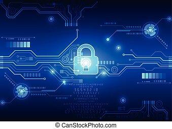 벡터, 네트워크, 떼어내다, 세계, 삽화, 배경, 안전, 기술