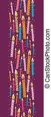 벡터, 다채로운, 수직선, 초, seamless, 생일, 배경 패턴